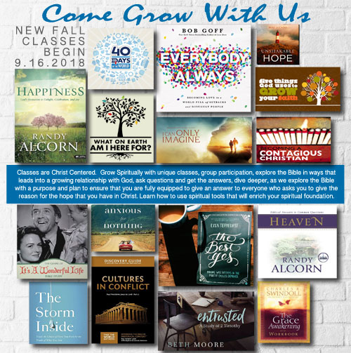 Come Grow With Us in our Christian Education Classes