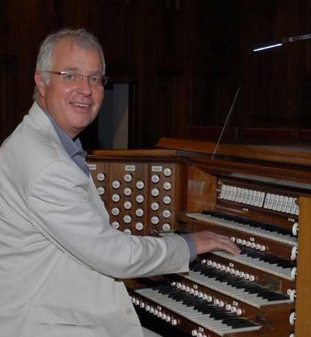 Bob Schneider at the organ