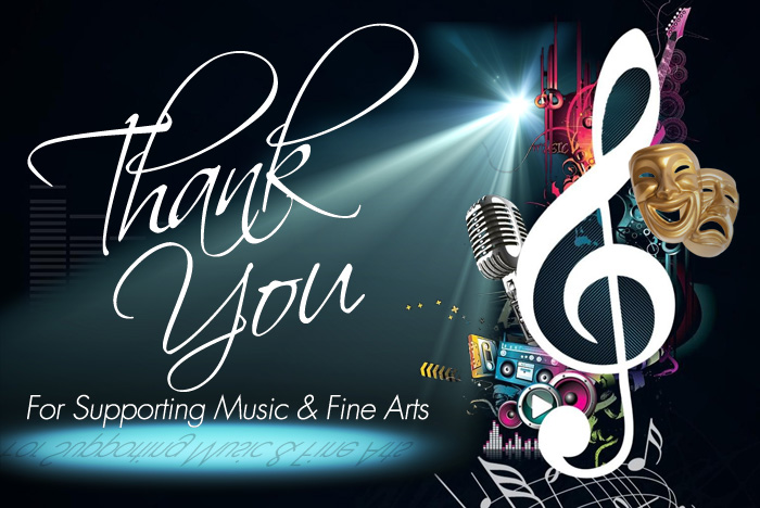 Thank You for Supporting the Fine Arts