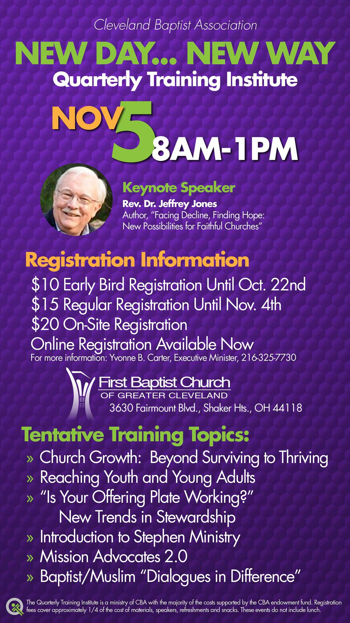 New Day... New Way Nov 8AM-1PM