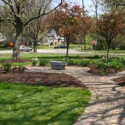 memorial gardens in the spring