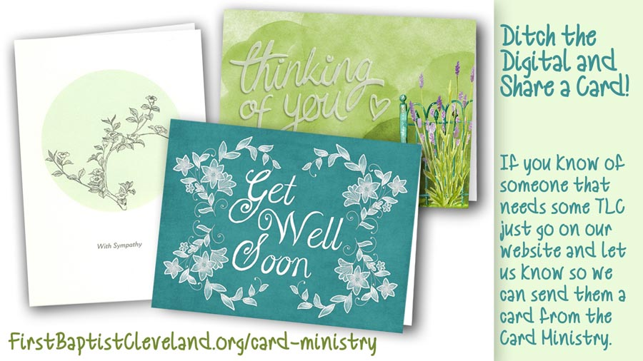 Cards from Card Ministry
