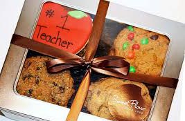 box of cookies for the teacher
