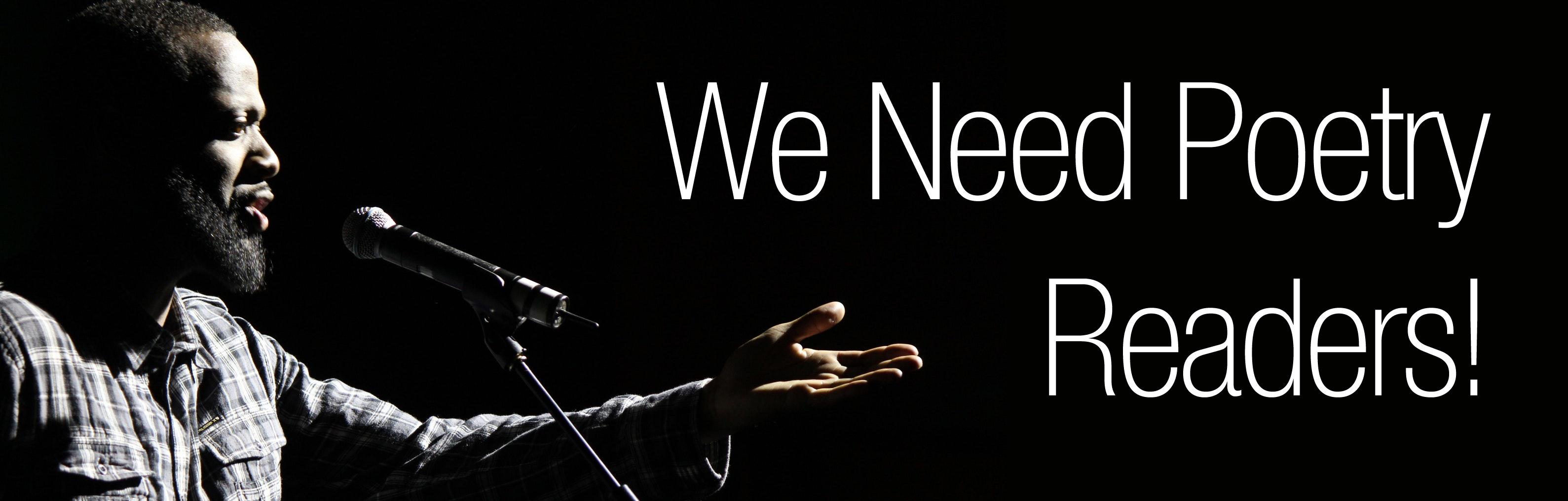 We Need Poetry Readers!