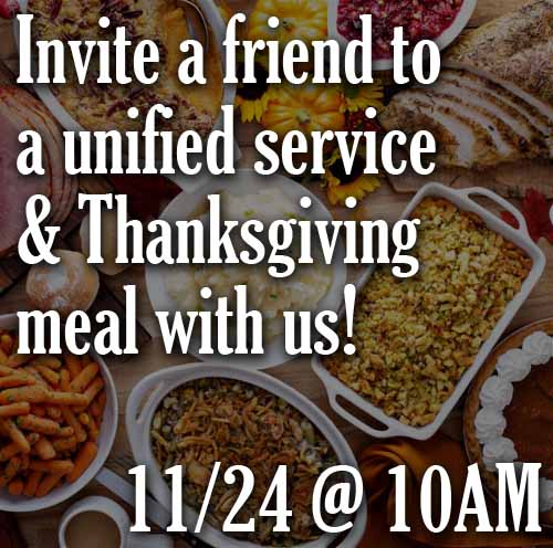 Thanksgiving unified service and meal