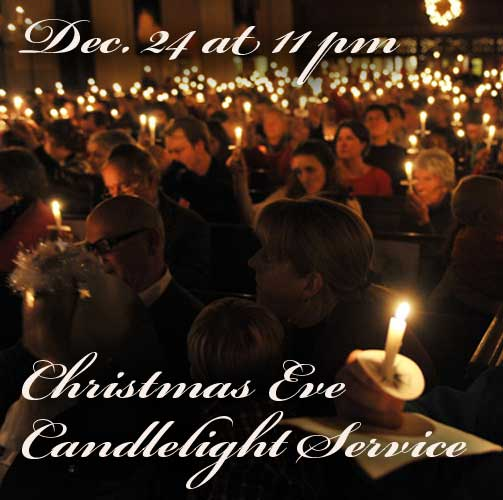 Candlelight Service Dec. 24 @ 11PM