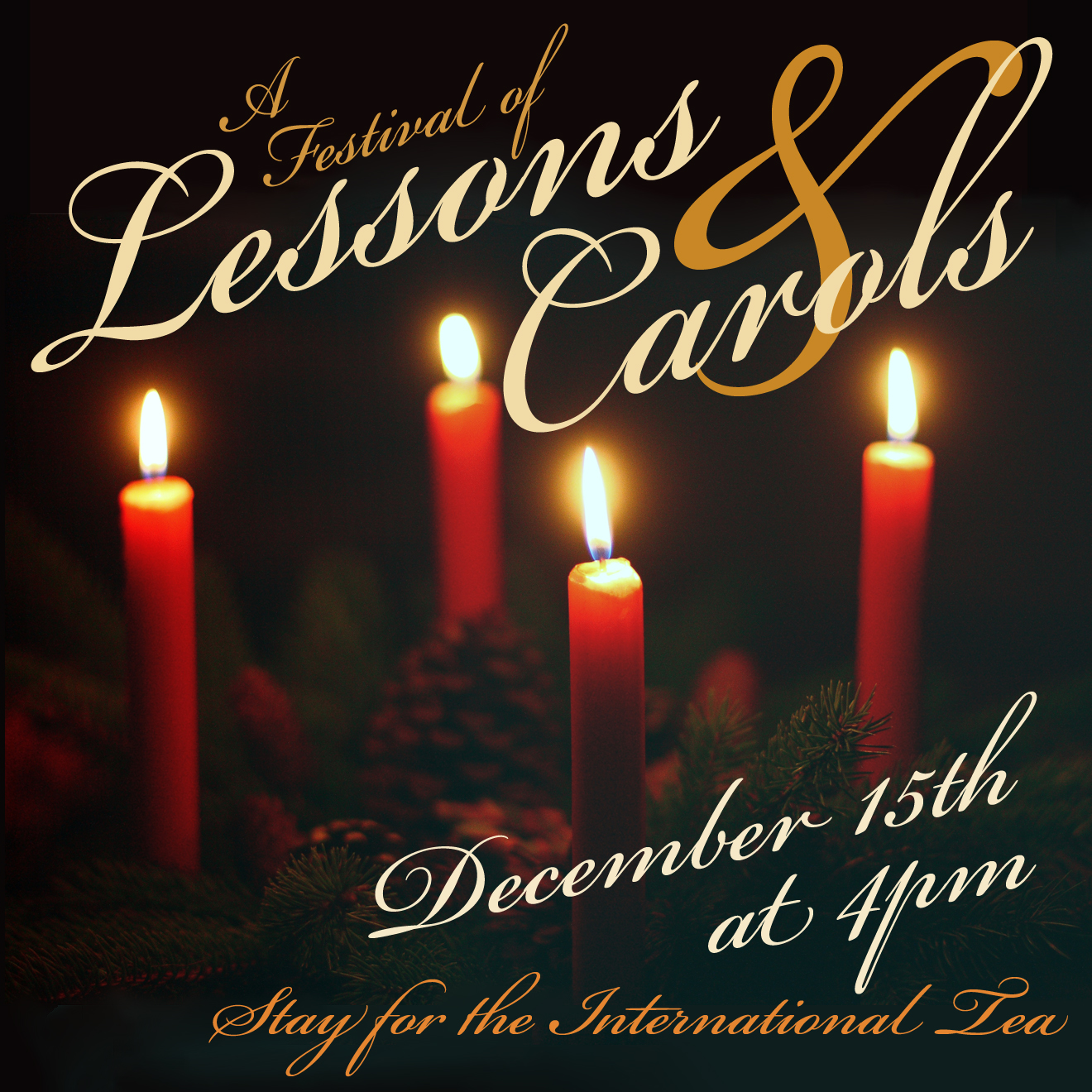Lessons & Carols Dec. 15 at 5PM