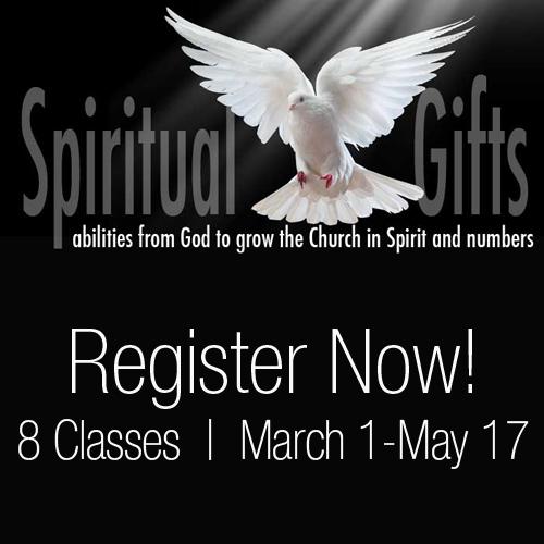 Register for Spiritual Gifts